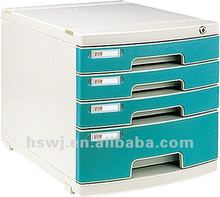 Hot sale colorful four layers plastic file cabinet with lock