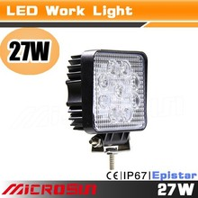 New Arrival Wholesale Price Ip68 Led Tuning Light New 27W Car Led Work Light