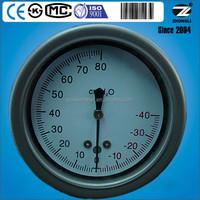 2.5inch stainless steel low pressure cylinder gauge meter marking cmH2O