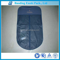 china supplier logo printing hanging non woven clear garment bag wholesale