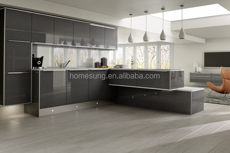 Moderne kleine keuken ontwerpen houtsnijwerk meubels fabrikanten ...