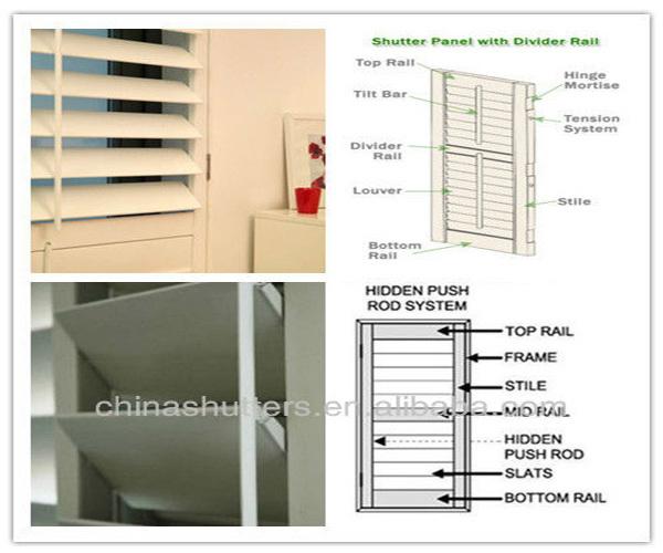 Ce Solid Wood Door Shutters Jalousie Shutters Window Louver Buy