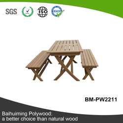 Great Waterproof and Hot Sale Polymer Timber Picnic Set