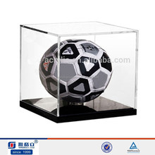 acrylic soccer ball box for soccer ball display,acrylic soccer ball display cese