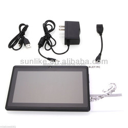 2014 Wholesale! 7 Inch RK3026/Allwinner A23 Cheap Q88 Dual Core Android 4.4 Tablet PC Dual Camera Price China