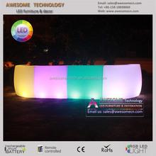 glow led modular bar, 2 led straight bar + 2 led corner bar for outdoor events