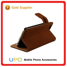 [UPO] Wholesale Mobile Phone Case PU Leather Card Slot Stand Flip Cover Wallet Phone Case for iPhone 6
