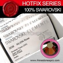 Fashion Dress Swarovski Elements Smoked Topaz SATIN (220 SAT) 6ss Crystal Iron On Hotfix Rhinestone