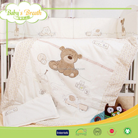 BBS143 home use babies silk hand embroidery bed linen, wholesale bed linen