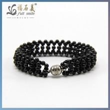 2014 New Style jewelry Black Spinel Wholesale Fashion bracelet