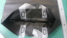 35x45 bottom gusset Whole Black HDPE Plastic Shopping Bags W/white handle