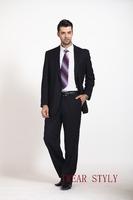 stripe notch lapel business men's suits