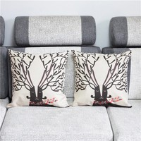 Colorcasa home textile deer patterned pillowcase cotton fabric pillow cover decorative item for bed&sofa(ETH125)