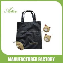 Cat foldable shopping bags/animal folding bag