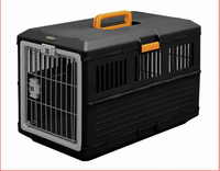 Portable manual bolt pet cage