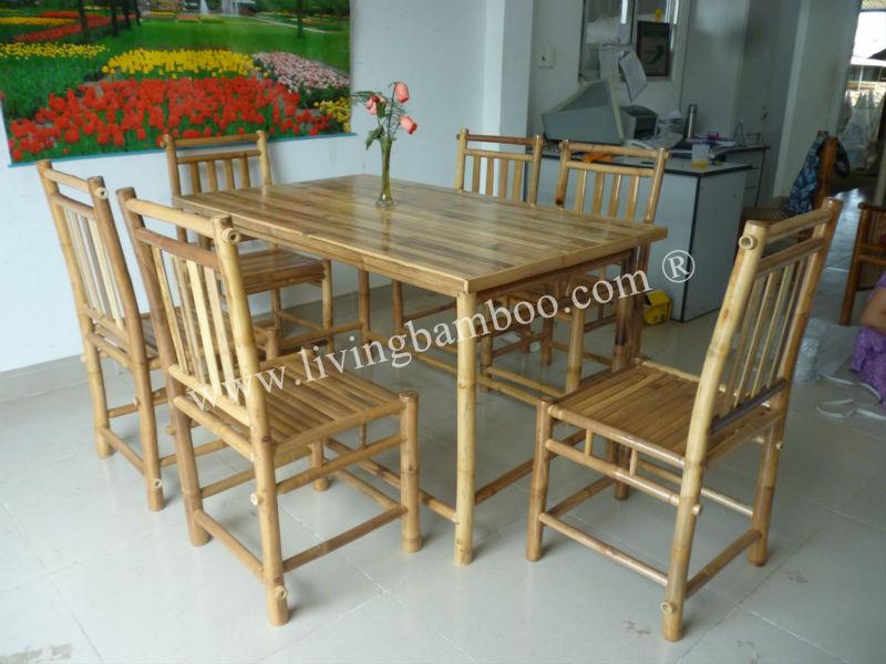 home furniture binh quoi bamboo dining set