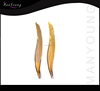 Gold tweezer, eyebrow tweezers slanted tips, Manicure tweezers