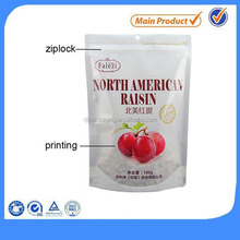 customized plastic printed food resealable packaging