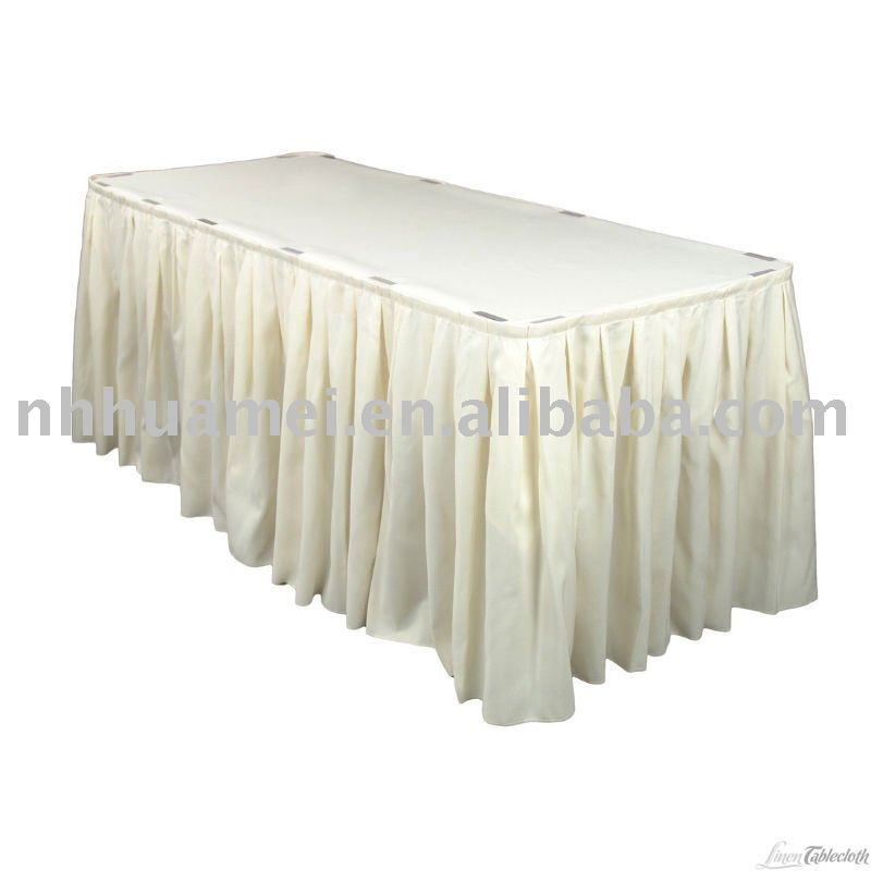 Jupe de tableau/ nappes/nappe/ table de la couverture de