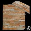 ديكور جدار الحجر والبلاط في الهواء الطلق