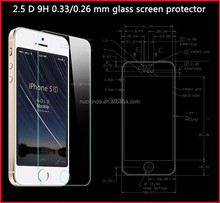 reflective for iphone 5 screen protector tempered glass