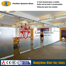 8mm moveble office partition glass panel