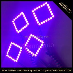 Control remoto inalámbrico anillo del halo Especial negro pcb panel Cuadrado RGB angel eye Anillo de luz Led para 3 ''pod luz