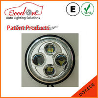 Qeedon OEM 7 inch pink dot approved 12v led round headbulb for motorcycle