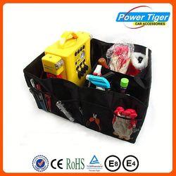 Black Car Boot Organiser Storage Bag Auto Storage Box Multi-use Tools Organizer