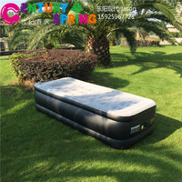 Luxury inflatable air bed , single airbed mattress, built in pump mattress air bed