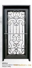 Últimos diseños de puertas de hierro de seguridad frontaldiseño de una sola puerta de hierro