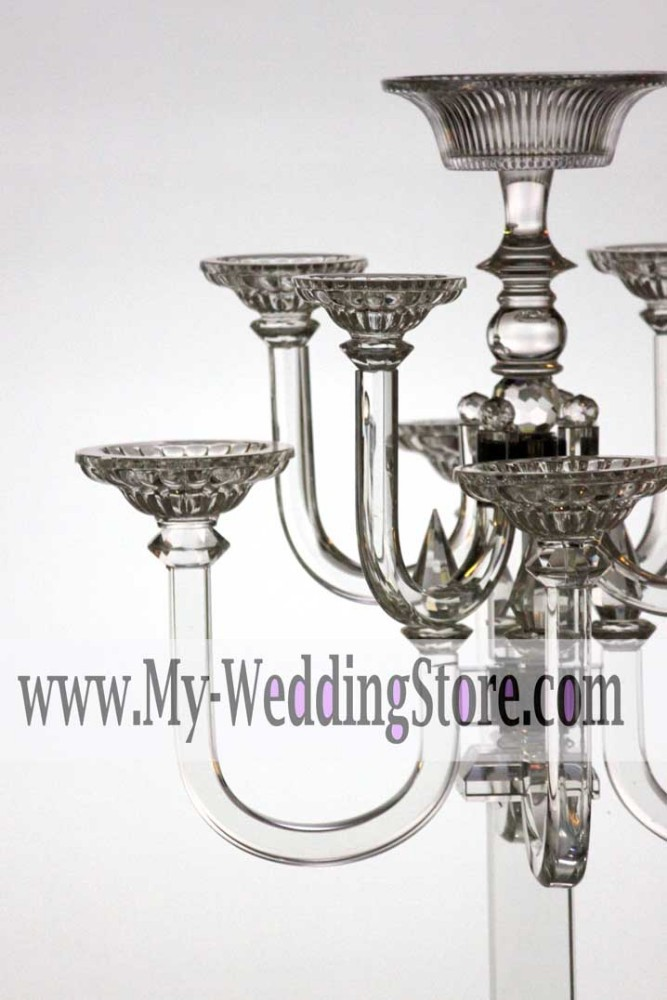 crystal candle holder for wedding and events