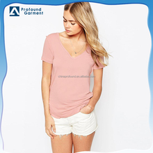 girls tshirt v neck blank tshirt soft thin fashion tshirt womens