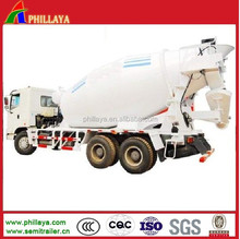 Truck Trailer Concrete Mixer Truck / Cement Semi Trailer For Sale