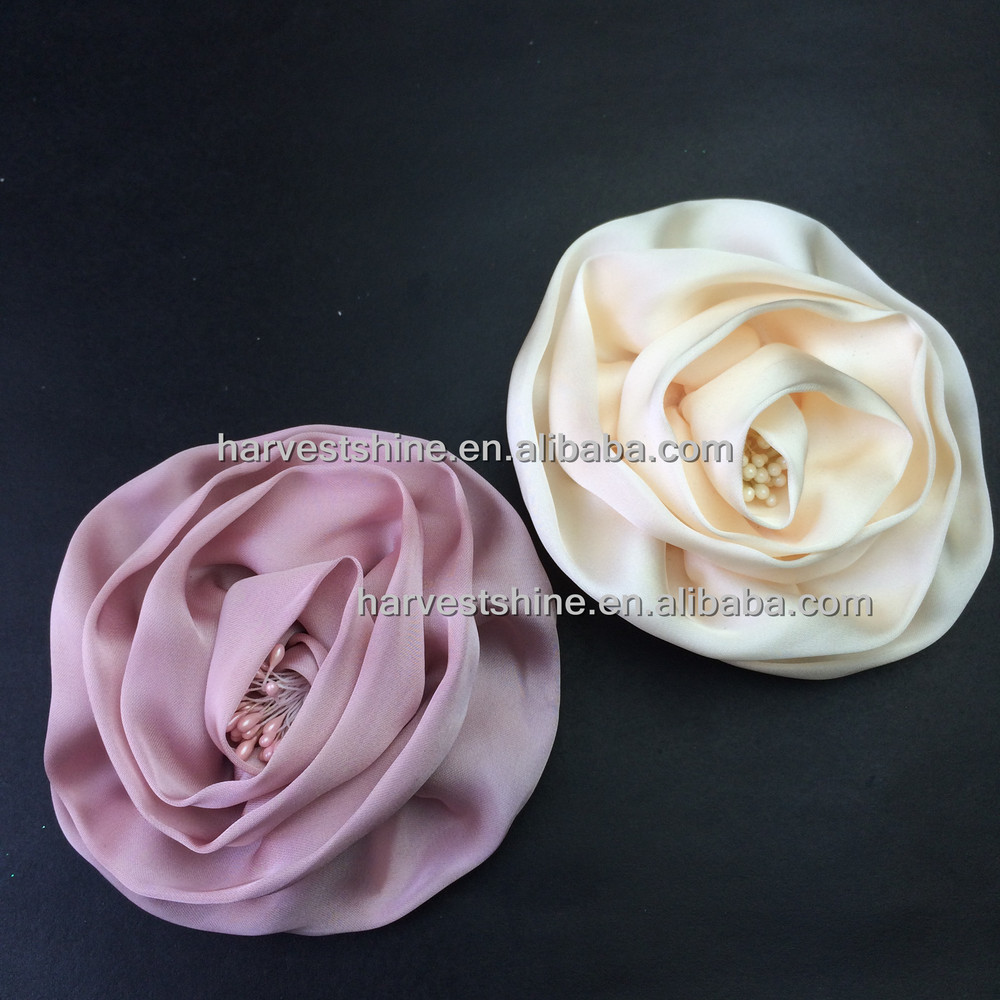 Wholesale Extra Large Silk Rose Flower Corsage Pins For Women