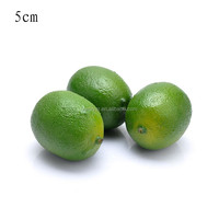 50mm mini Polystyrene foam artificial green lemon fake home festival decoration fruit and children DIY