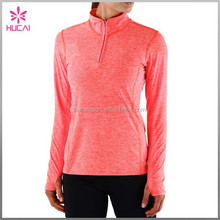 Custom Long Sleeve Dry Fit Running Shirts Fitness Yoga Clothes Women