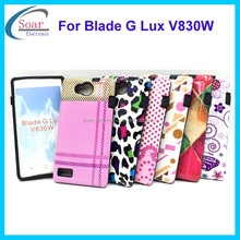 Hot selling design water printing combo case for ZTE Blade G Lux V830W