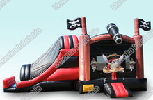 Hot sale pirate ship slide bouncer combo