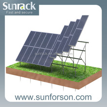 solar panel ground mounted with screw pile foundation