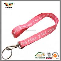 wholesale price customized printed nylon hot pink funky yoyo lanyards