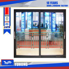Best quality aluminum up down sliding window with single glass