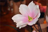 Flower arrangement long stem orchid magnolia artificial flower