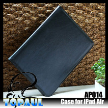 Handle with Kickstand wallet case for ipad air leather case