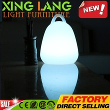 New Fashion Design Flickering Glass Jar Eggshell LED portable Light
