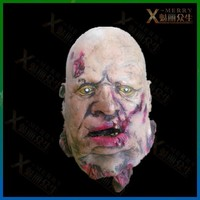 X-MERRY THE BRUTAL BUTCHER WITH BLODDY GROSS LATEX HEAD BACK BONES EXPLODED PARTS COSTUME ADULT BLOODTHIRSTY PROPS