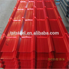 Low price red roofing tile/prepainted metal roofing sheet/color corrugated steel sheet
