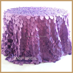 TC046L Banquet party fitted modern design light purple taffeta fancy table cover