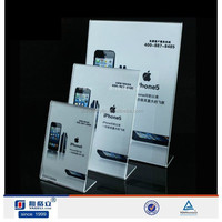 2015 hot sale clear acrylic picture stand,plxiglass insert A4,A5 sign holder acrylic display stand