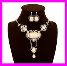 Various design fashion ladies jewelry gold chain indian long necklace set HD3557
